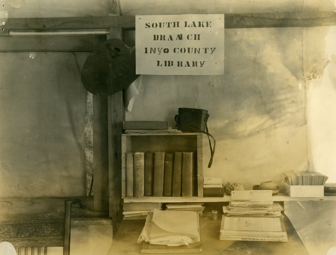 Book collection of the South Lake Branch, Inyo County Library, c. 1910s